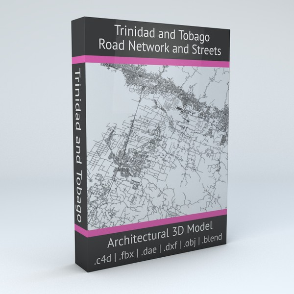 Trinidad and Tobago Road Network and Streets Architectural 3D model