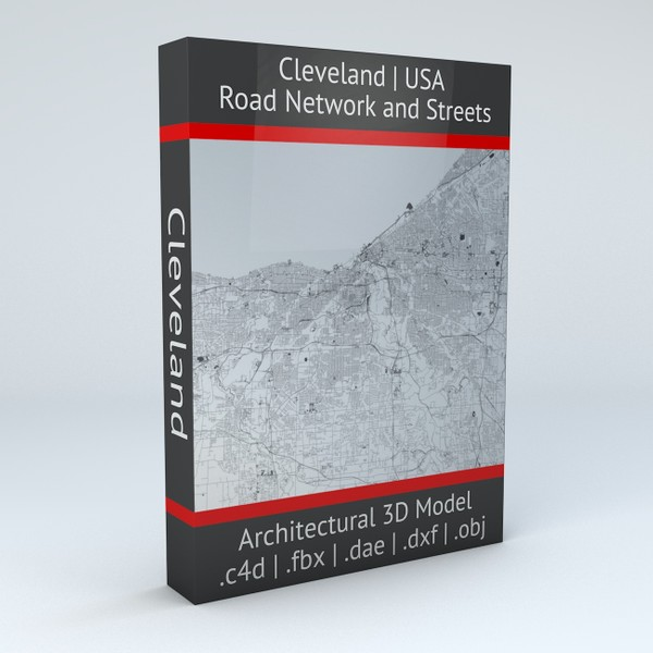 Cleveland Road Network and Streets Architectural 3D model