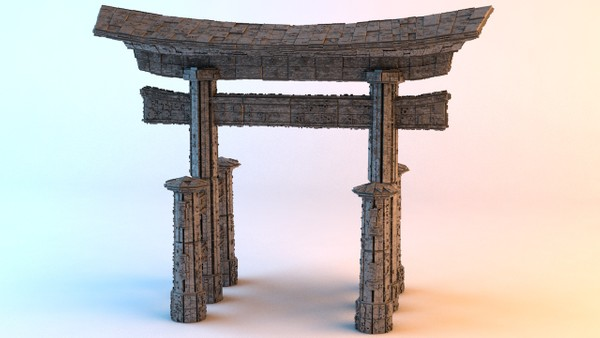 Sci-fi Shapes - The Torii 3D model