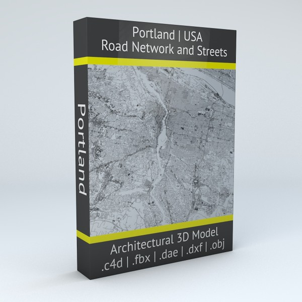 Portland Road Network and Streets Architectural 3D model