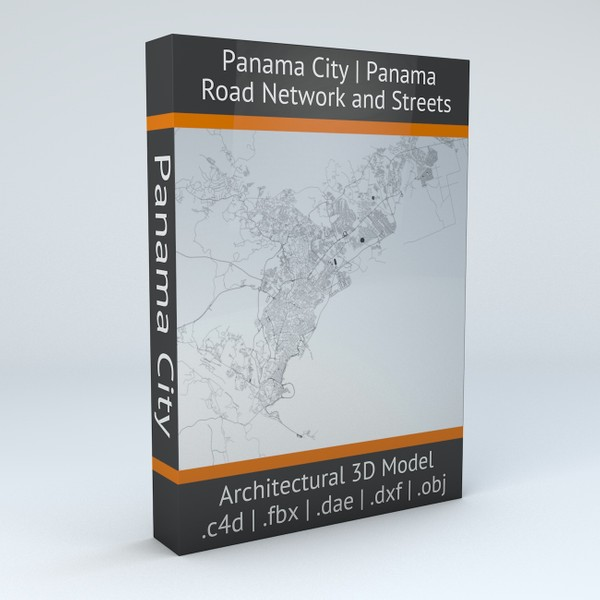 Panama City Road Network and Streets Architectural 3D model