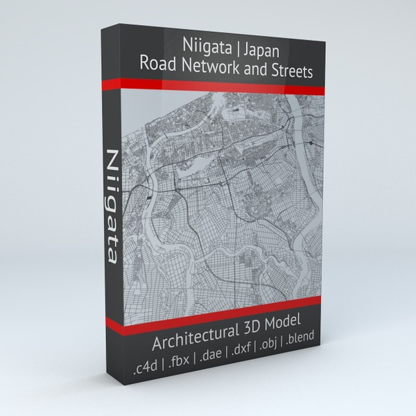 Niigata Road Network and Streets Architectural 3D model