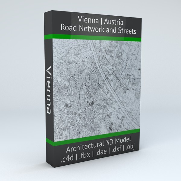 Vienna Road Network and Streets Architectural 3D model