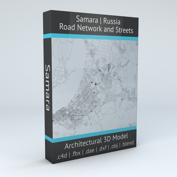 Samara Road Network and Streets Architectural 3D model