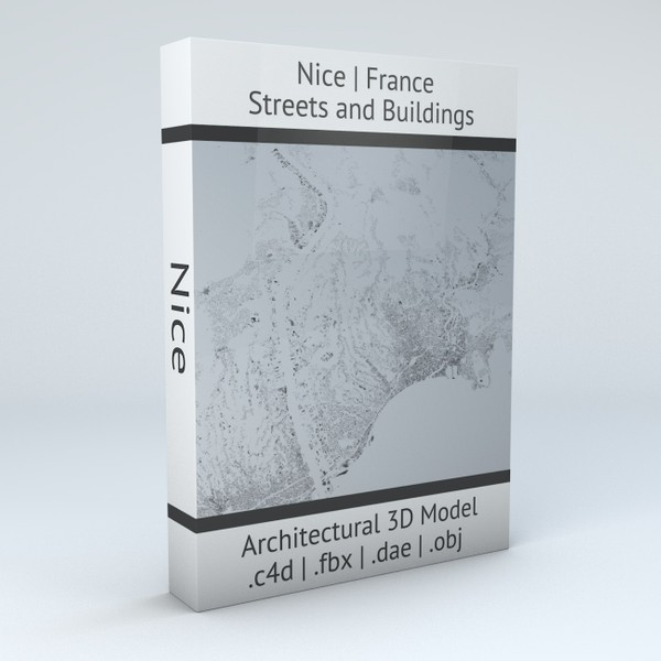 Nice Streets and Buildings Architectural 3D Model