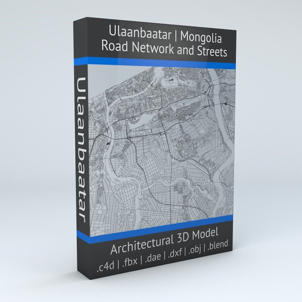 Ulaanbaatar Road Network and Streets Architectural 3D model