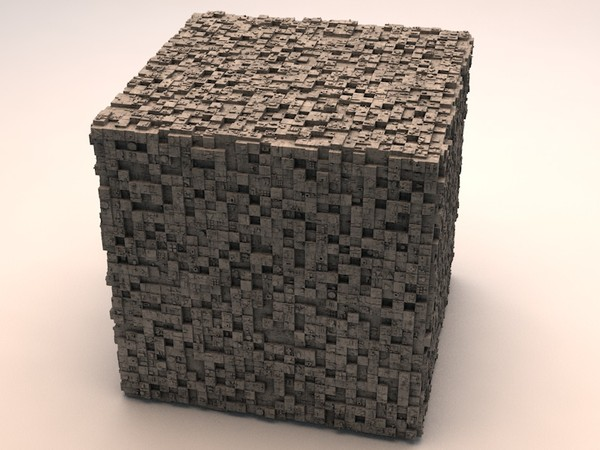 Sci-Fi Shapes - The Cube 3D model