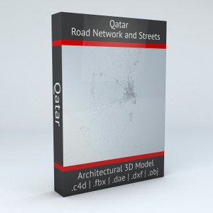 Qatar Road Network and Streets Architectural 3D model
