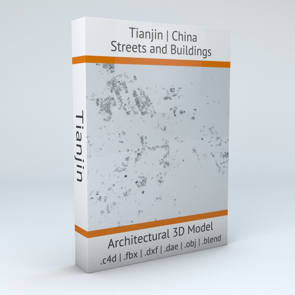 Tianjin Streets and Buildings 3D model