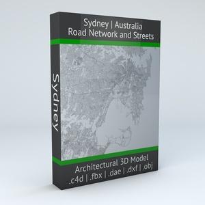Sydney Road Network Architectural 3D Model