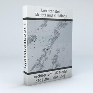 Liechtenstein Streets and Buildings Architectural 3D Model