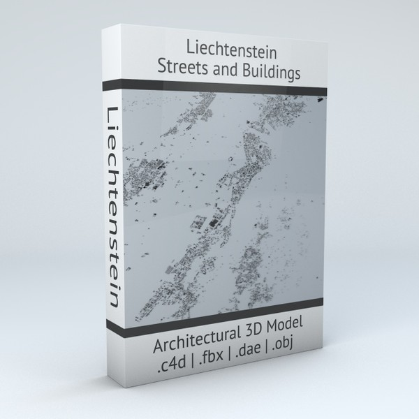 Liechtenstein Streets and Buildings Architectural 3D Model
