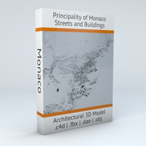 Monaco Streets and Buildings Architectural 3D Model