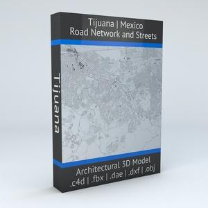 Tijuana Road Network Architectural 3D Model