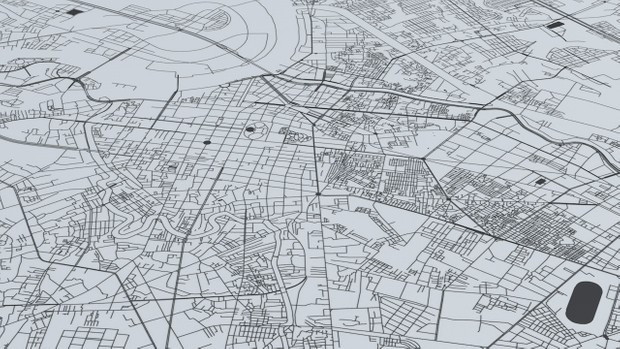 Ho Chi Minh Road Network and Streets Architectural 3D model