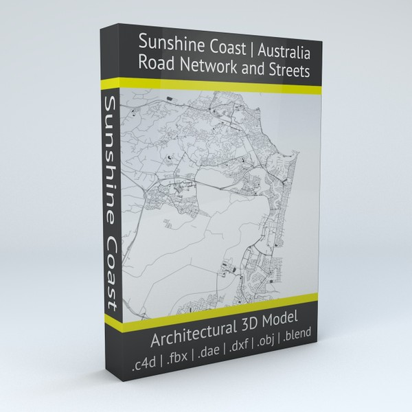 Sunshine Coast Road Network and Streets Architectural 3D model