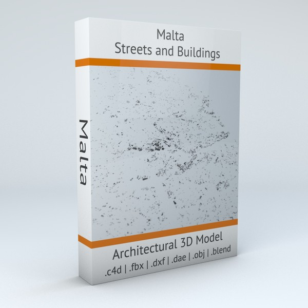 Malta Streets and Buildings Architectural 3D model