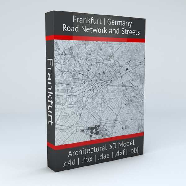 Frankfurt Road Network and Streets Architectural 3D model