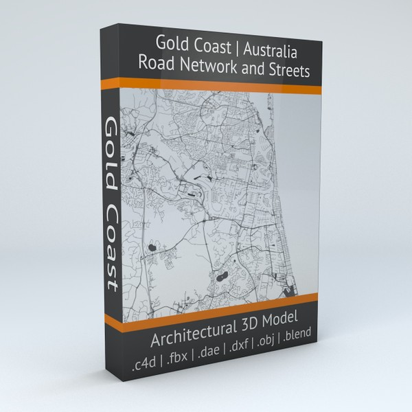 Gold Coast Road Network and Streets Architectural 3D model