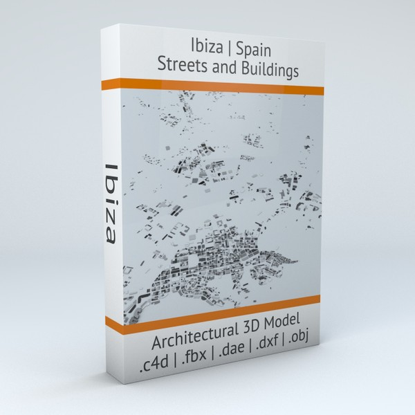 Ibiza Streets and Buildings Architectural 3D model