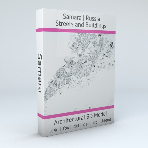 Samara Streets and Buildings Architectural 3D model