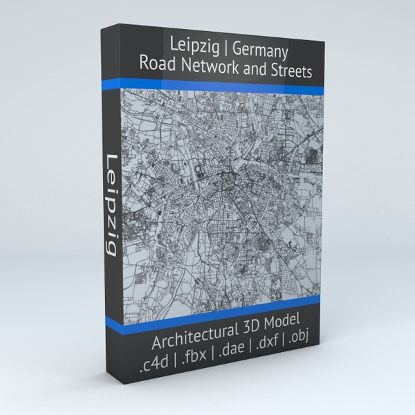 Leipzig Road Network and Streets Architectural 3D model