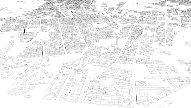 Helsinki Streets and Buildings Architectural 3D Model