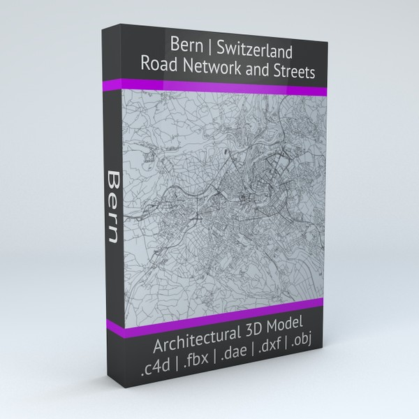 Bern Road Network and Streets Architectural 3D model