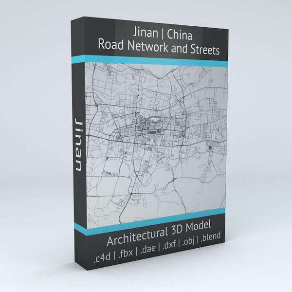 Jinan Road Network and Streets 3D model
