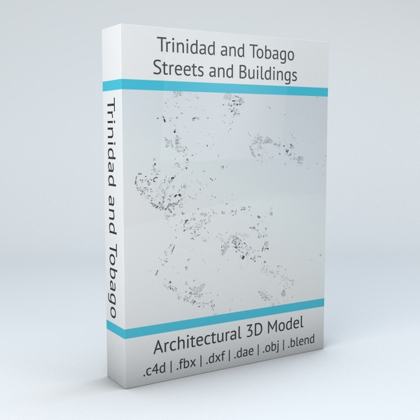 Trinidad and Tobago Streets and Buildings Architectural 3D model