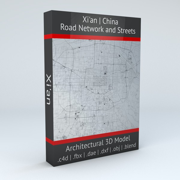 Xian Road Network and Streets 3D model