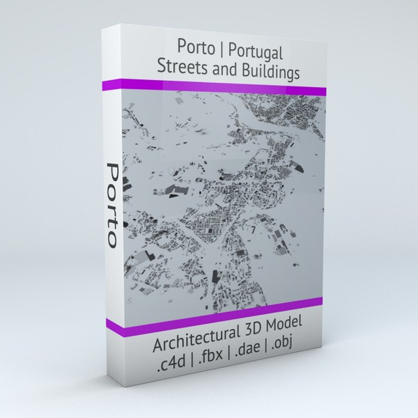 Porto Streets and Buildings Architectural 3D Model