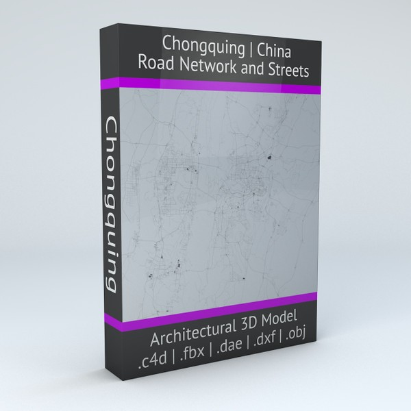 Chongquing Road Network and Streets Architectural 3D model