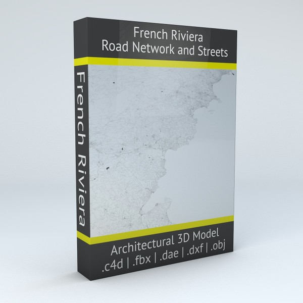 French Riviera Road Network and Streets Architectural 3D model