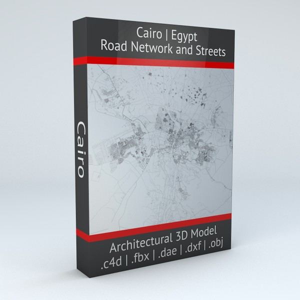 Cairo Road Network and Streets Architectural 3D model