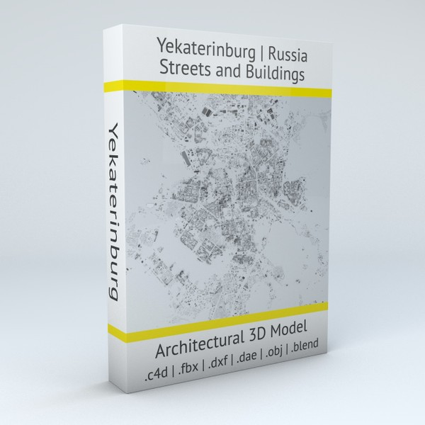 Yekaterinburg Streets and Buildings Architectural 3D model