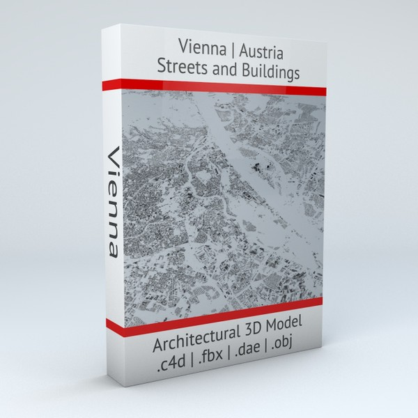 Vienna Streets and Buildings Architectural 3D Model