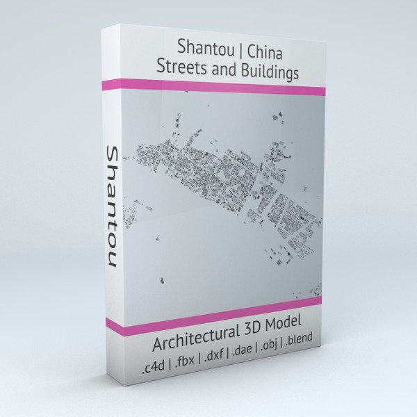 Shantou Streets and Buildings 3D model