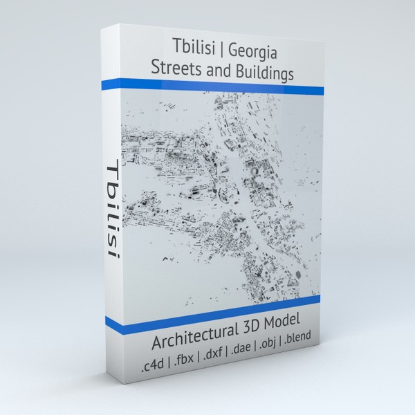 Tbilisi Streets and Buildings Architectural 3D model