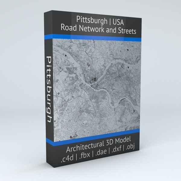 Pittsburgh Road Network and Streets Architectural 3D model