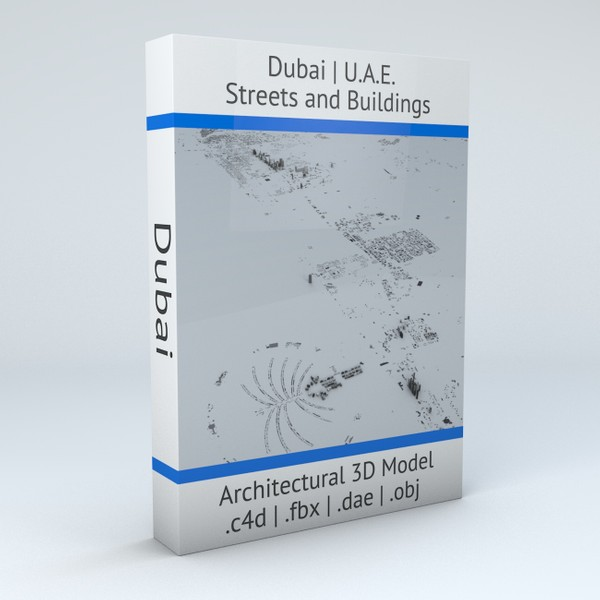 Dubai Streets and Buildings Architectural 3D Model