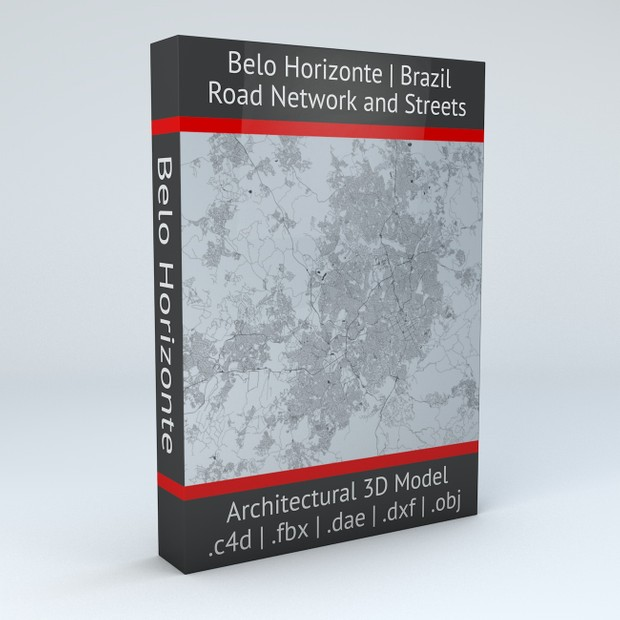 Belo Horizonte Road Network and Streets Architectural 3D model