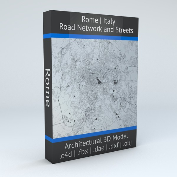 Rome Road Network and Streets Architectural 3D model