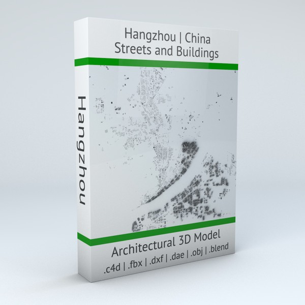 Hangzhou Streets and Buildings 3D model