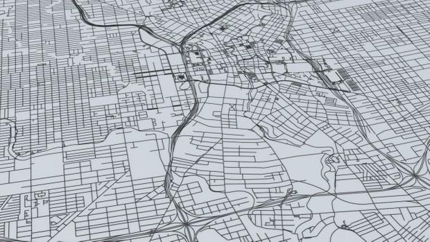 San Antonio Road Network Architectural 3D Model