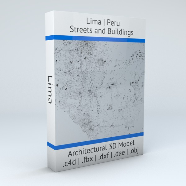 Lima Streets and Buildings Architectural 3D model