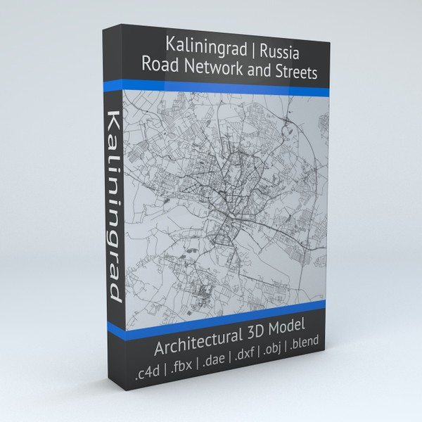Kaliningrad Road Network and Streets Architectural 3D model