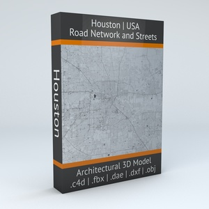 Houston Road Network Architectural 3D Model