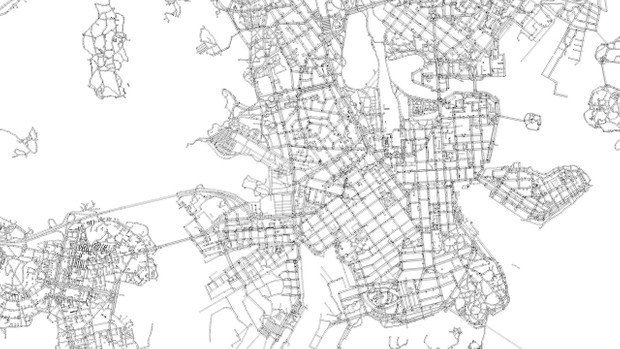 Helsinki Area Road Network and Streets Architectural 3D model
