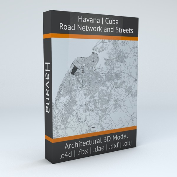 Havana Road Network and Streets Architectural 3D model